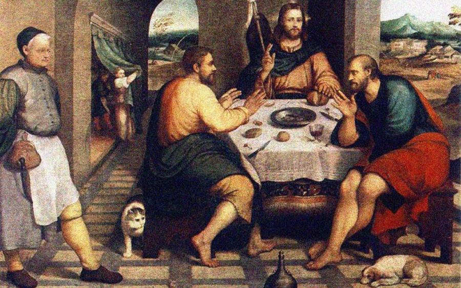 jezus za stolem 900x563 - Czytanie na sobotę 21 września 2019