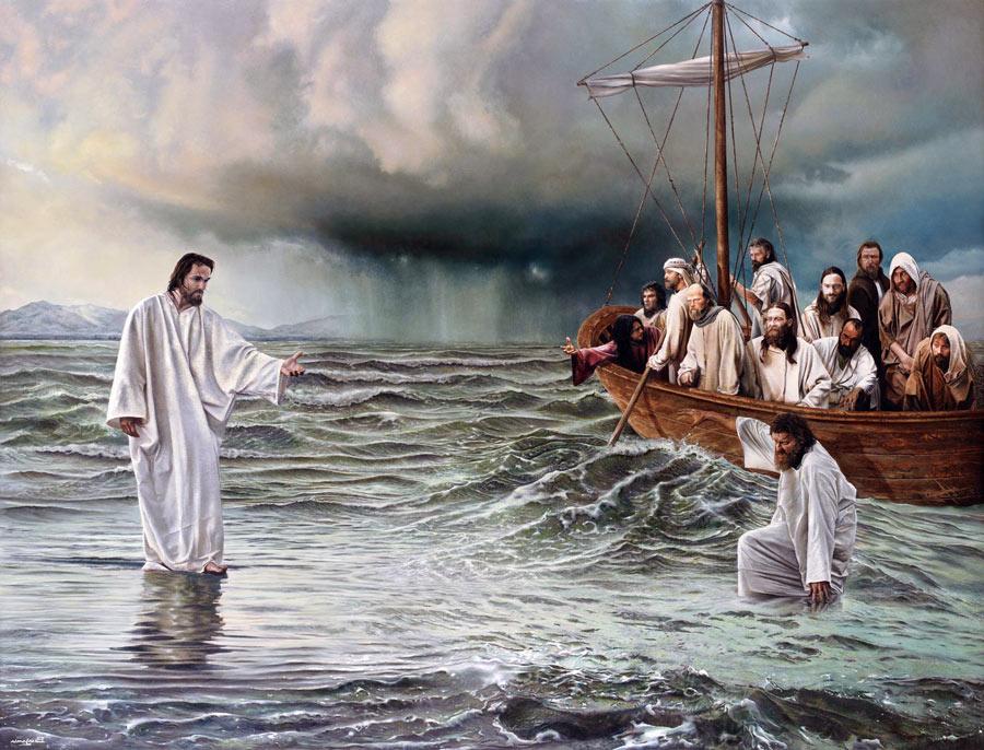 jezus idzie po wodzie 900x686 - Czytanie na sobotę 4 maja 2019