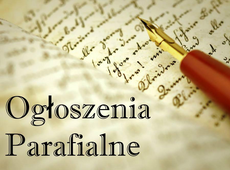 ogloszenia parafia4 - Ogłoszenia parafialne
