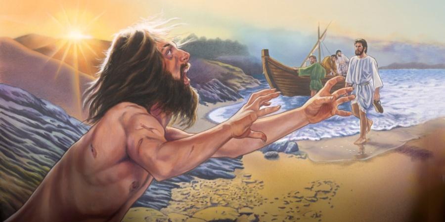 jezus i swienie 900x450 - Czytanie na poniedziałek 3 lutego 2020